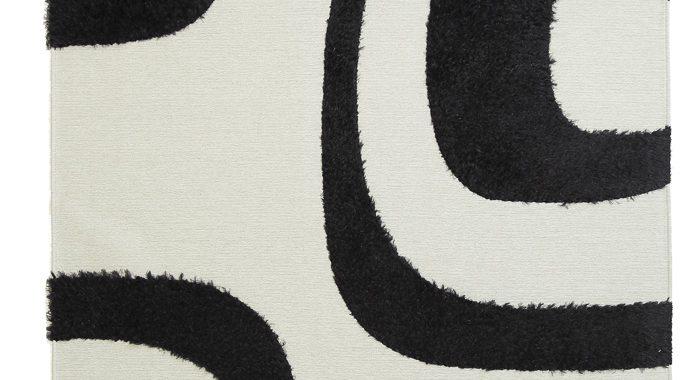 Chenille Toscana Shira Black White